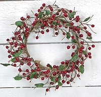 ISB1025-RD - Berry Wreath-Red-6/36pcs