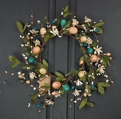 ISB65012 - 12in Country Easter Wreath-4/48pcs