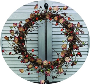 ISB95050 - 24in Twiggy Country Podka Pods Wreath-2/8pcs