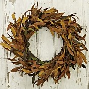 ISW767 - 20in HERB W BIRCHCONE WREATH - RUSTY