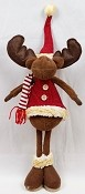 M7012 - 23inH Stuffed Moose w.big boots-1/8pcs