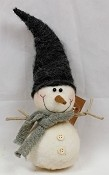 M7029 - 9.5 inH Stuffed Snowman w.Elf Hat-1/12pcs