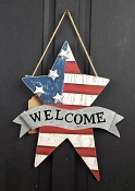 M8868 - 10x12in Americana Welcome sign-4/24pcs