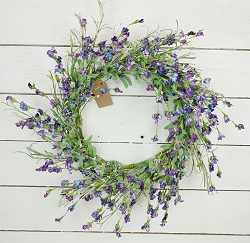 ISB69580 - 22in Country Lavender Blossom Wreath-2/12pcs