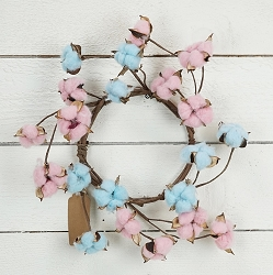 ISB69612 - 12in Mix Cotton Candy  wreath-6/36pcs