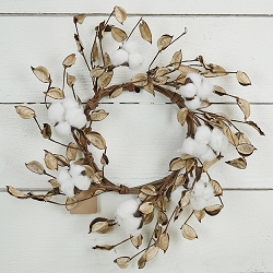 ISB68575 - 12in Wreath-Cotton with Shells-6/36pcs