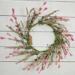 ISB68950 - 20in Pink heather Blossom Wreath-2/12pcs