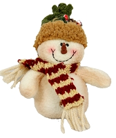 M3817 - Stuffed puffy Snowman ornament-12/192pcs
