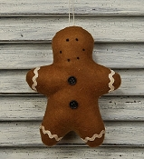 M8327 - 6inH Felt Gingerbread ornament-1/216pcs