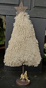 M8487 - 19inH Fluffy Xmas Tree-2/24pcs