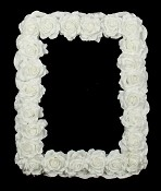 ISB18450 - White Rose Big Frame-2/16pcs