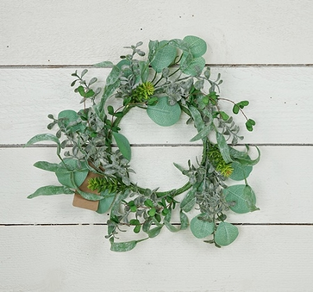 ISB75782 - 12in Wreath-Succulent Garden-6/48pcs