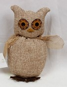 M6134 - 6.5inH Teastained Owl Sitter-12/72pcs