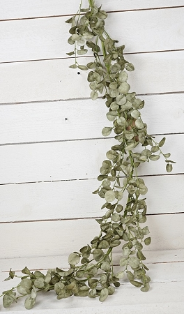 27021 - 5ft Foamy Silver Dollar Garland-Sage-3/36pcs