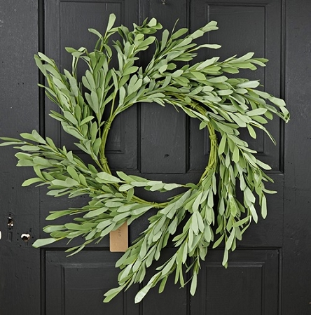 27060 - 24in Foamy Willow Leaves Wreath-3/24pcs