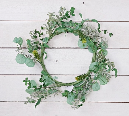 ISB75780 - 20in Wreath-Succulent Garden-2/12pcs