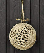 M8626 - 3inD Crochet Ball Ornament-CR-1/280pcs