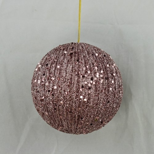 ISB38955 - 3in Glitter Corrugated Ball-PK-12/144pcs