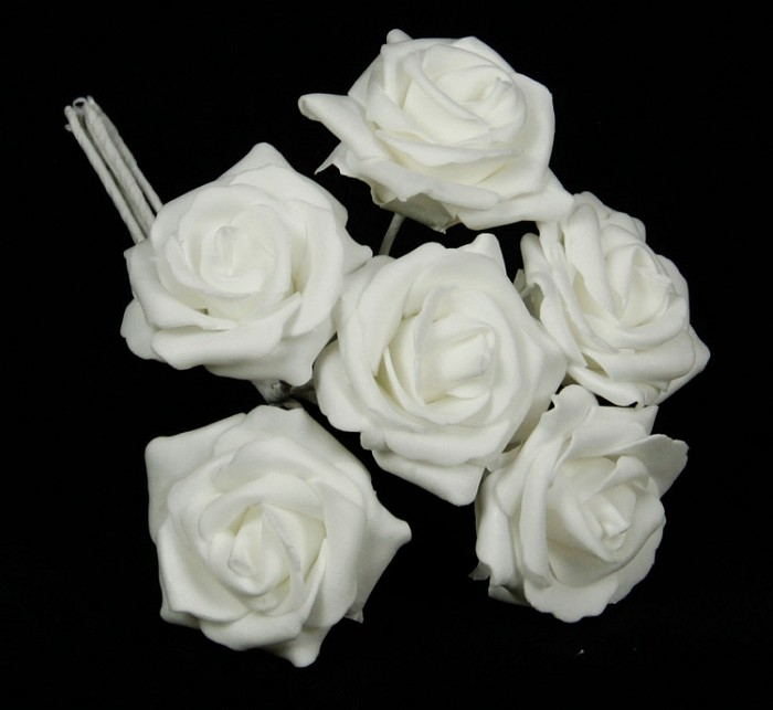 ISB18580 - White Rose Box-6/72box - price for box of 6 bunches